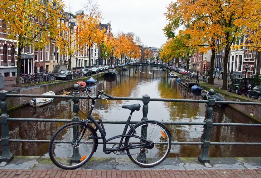 Bikes In Amsterdam Canals comedia