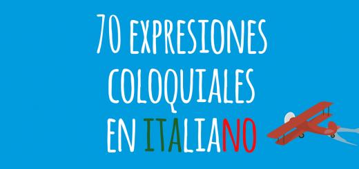expresiones coloquiales italiano
