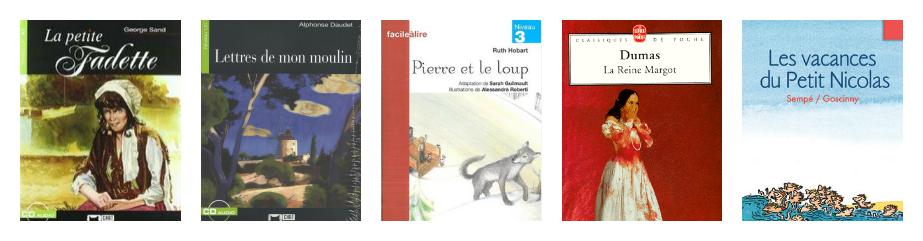 10 libros lectura francés A1 II