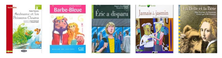 10 libros lecturas francés A1