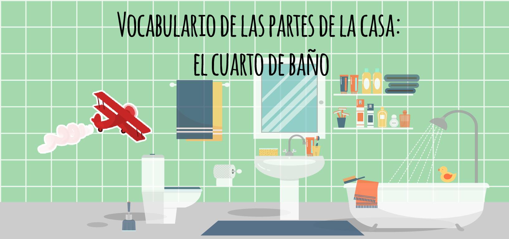 Vocabulario de las partes de la casa: el cuarto de baño ...
